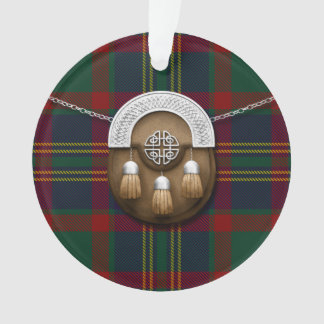County Cork Irish Tartan And Sporran Ornament