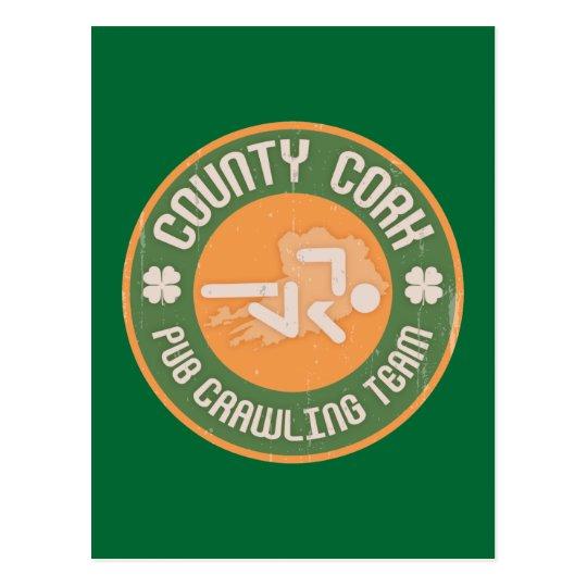 County Cork Pub Crawling Team Postcard