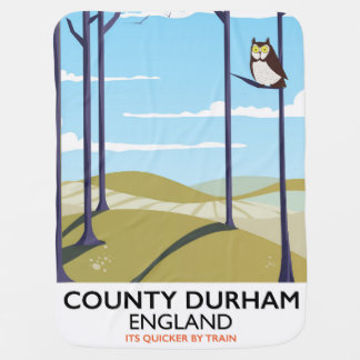 County Durham, England train poster Baby Blanket