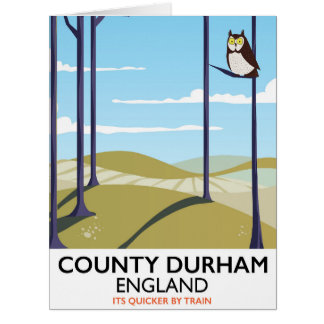 County Durham, England train poster Card