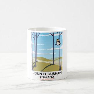 County Durham, England train poster Coffee Mug