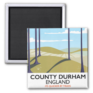 County Durham, England train poster Magnet