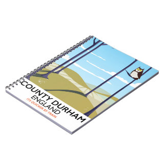 County Durham, England train poster Notebook