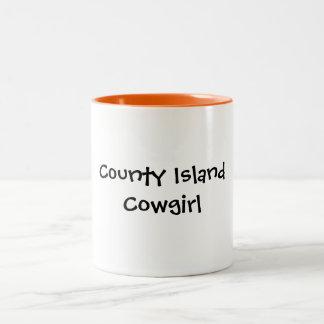 County Island Cowgirl Two-Tone Coffee Mug