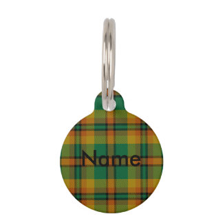 County Londonderry Irish Tartan Pet Name Tag
