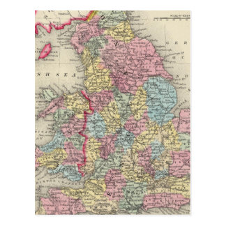 County Map Of England, And Wales Postcard