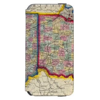 County Map Of Ohio, And Indiana Incipio Watson™ iPhone 6 Wallet Case