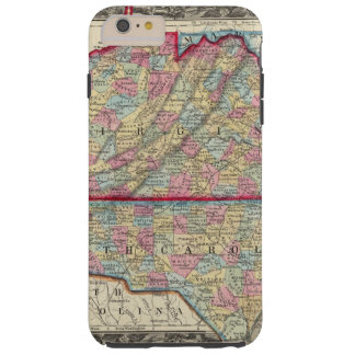 County Map Of Virginia, and North Carolina Tough iPhone 6 Plus Case