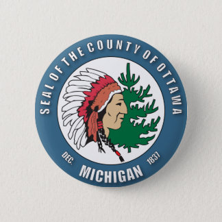County of Ottawa seal 2 Inch Round Button