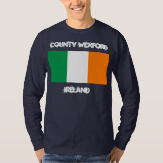 County Wexford, Ireland with Irish flag T-Shirt