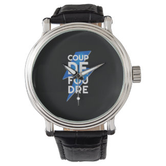 Coup de Foudre - French Expression Lightning Bolt Wrist Watch