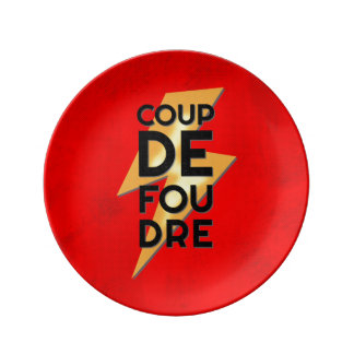 Coup de Foudre - Lightning Strike French Porcelain Plate