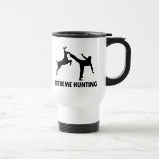 Coup-de-pied extrême de karaté de cerfs communs de mug de voyage en acier inoxydable