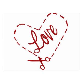 Coupe-circuit de coeur d amour cartes postales