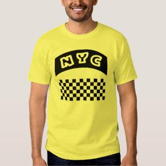 Coupe-circuit de NYC avec le damier et la bannière Tee Shirts