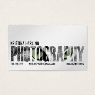 Coupe-circuit de photographie - blanc cartes de visite