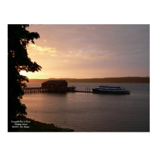 Coupeville Pier at Dusk Postcard