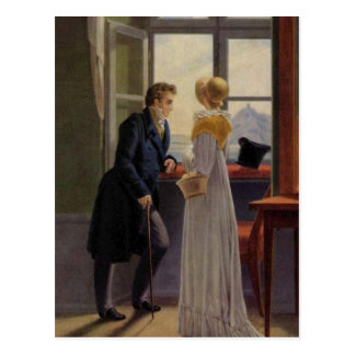 Couple at the Window Postcard