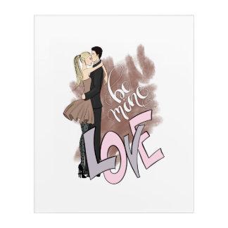 Couple Be Mine Acrylic Wall Art