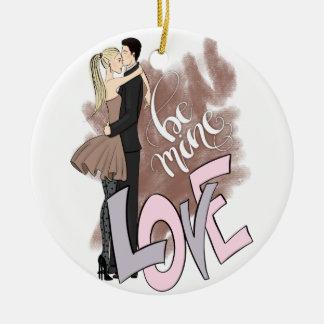 Couple Be Mine Ceramic Ornament