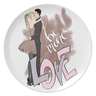 Couple Be Mine Plate