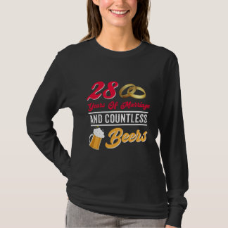 Couple Beer Shirt For 28th Anniversary.