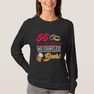 Couple Beer Shirt For 56th Anniversary.