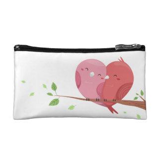 Couple Bird Small Cosmetic Bag