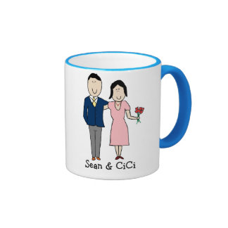Couple - custom colors ringer coffee mug