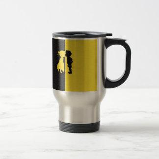 Couple Cute Kiss Love Photo Graphic Design Travel Mug