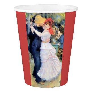 Couple dancing man woman party renoir painting paper cup