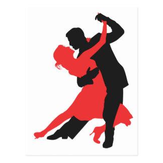 couple dancing postcard
