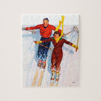 Couple Downhill Skiing Puzzle