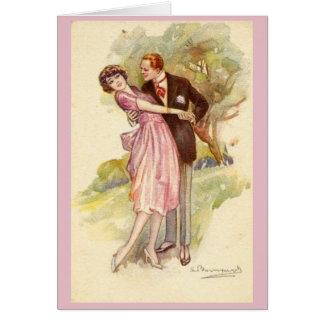Couple Falling in Love, Card