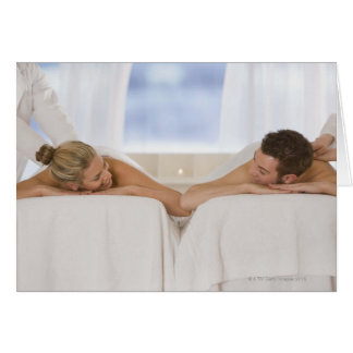 Couple getting massages card