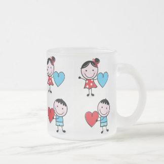 Couple Giving Their Heart Glass Mug