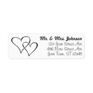 Couple Heart Return Address Labels #zGroupon