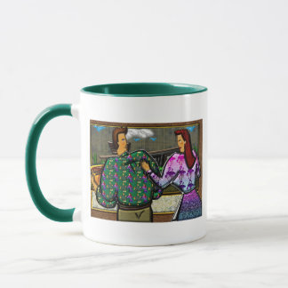 Couple Holding Plaque Mug