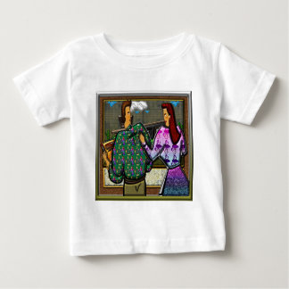 Couple Holding Plaque Print II Baby T-Shirt