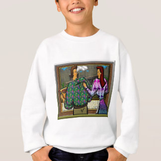 Couple Holding Plaque Print II Sweatshirt