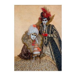 Couple in Carnival Costume, Venice Acrylic Wall Art