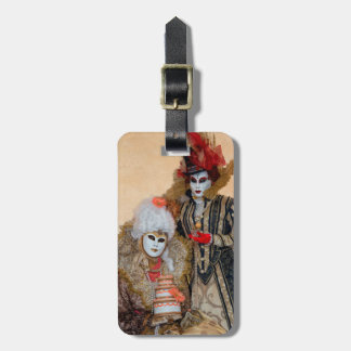 Couple in Carnival Costume, Venice Bag Tag