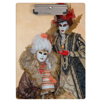 Couple in Carnival Costume, Venice Clipboard