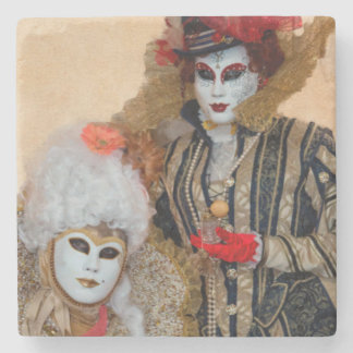 Couple in Carnival Costume, Venice Stone Coaster
