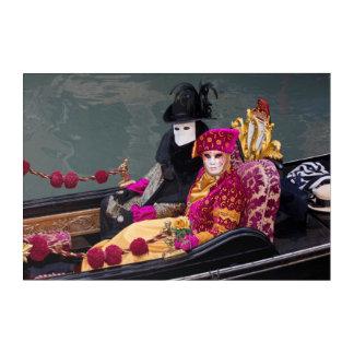 Couple In Gondola At Carnival, Venice Acrylic Wall Art