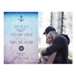 Couple In Love Tenderly Embraces/nautic theme Postcard