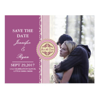 Couple In Love Tenderly Embraces/pink theme Postcard