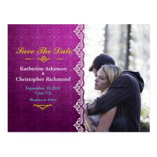 Couple In Love Tenderly Embraces/purple vintage Postcard