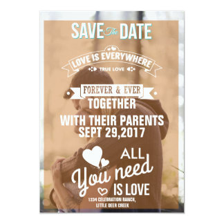 Couple In Love Tenderly Embraces/Save The Date Card