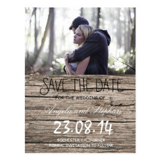 Couple In Love Tenderly Embraces/Save The Date Postcard